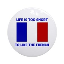 NO FRENCH Ornament (Round)