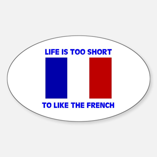 NO FRENCH Oval Decal