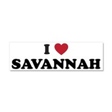 I Love Savannah Georgia Car Magnet 10 x 3