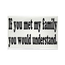 If You Met My Family Funny Rectangle Magnet