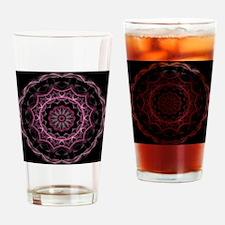Pink royal Dream kaleidoscope Drinking Glass