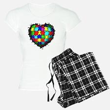 Autism Puzzle Heart Pajamas