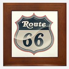 Glossy Route 66 Framed Tile