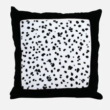 dalmation print Throw Pillow