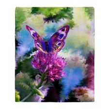 Colorful Abstract Butterfly Throw Blanket