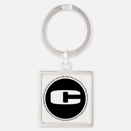 Cadence Recordings logo Square Keychain