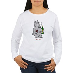 Rhino Wino #2 Women's Long Sleeve T-Shirt