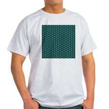 Green and Navy star pattern T-Shirt