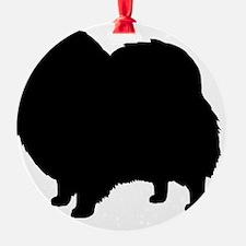 Black Pomeranian Dog Silhouette Ornament