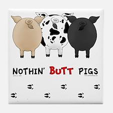 pigbuttsnew Tile Coaster