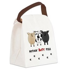 pigbuttsnew Canvas Lunch Bag