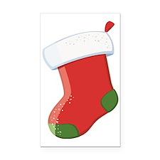 Santa's Stocking  Rectangle Car Magnet