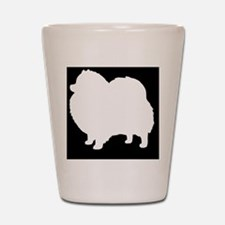 Pomeranian Hitch Cover Shot Glass