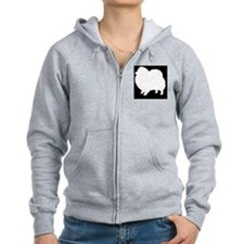 Pomeranian Hitch Cover Zip Hoodie