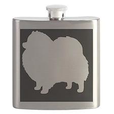 Pomeranian Hitch Cover Flask