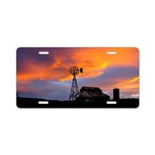 Sunset on the Farm Aluminum License Plate