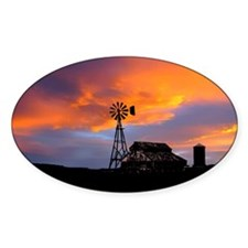 Sunset on the Farm Decal