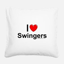 Swingers Square Canvas Pillow