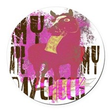 My Horse Ate My Paycheck pink Round Car Magnet