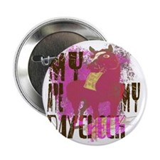 """My Horse Ate My Paycheck pink 2.25"""" Button"""