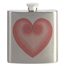 Pink Heart / Love Flask