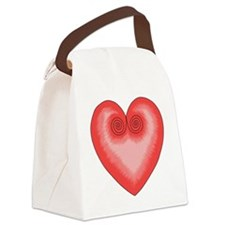 Pink Heart / Love Canvas Lunch Bag