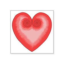 "Pink Heart / Love Square Sticker 3"" x 3"""
