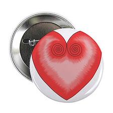 """Pink Heart / Love 2.25"""" Button"""