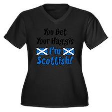 Bet Haggis I Women's Plus Size Dark V-Neck T-Shirt