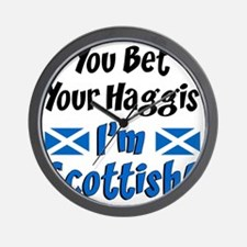 Bet Haggis Im Scottish Wall Clock