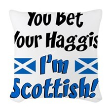 Bet Haggis Im Scottish Woven Throw Pillow