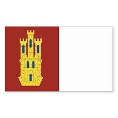 Castilla La Mancha Rectangle Decal