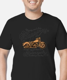 Happiness - Motorcycle Men's Fitted T-Shirt (dark)