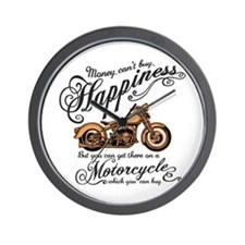 Happiness - Motorcycle Wall Clock