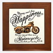 Happiness - Motorcycle Framed Tile