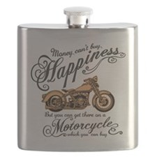 Happiness - Motorcycle Flask