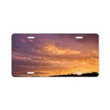 Flint Hills Sunset Aluminum License Plate
