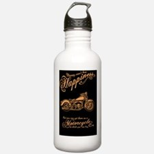 Happiness - Motorcycle Water Bottle