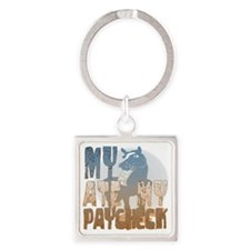 My Horse Ate My Paycheck 2 Square Keychain