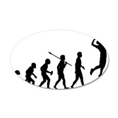 Volleyball 35x21 Oval Wall Decal