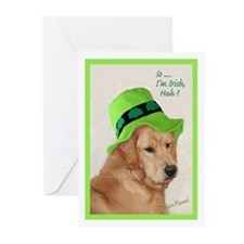 St. Patrick's Day Retriever Greeting Cards