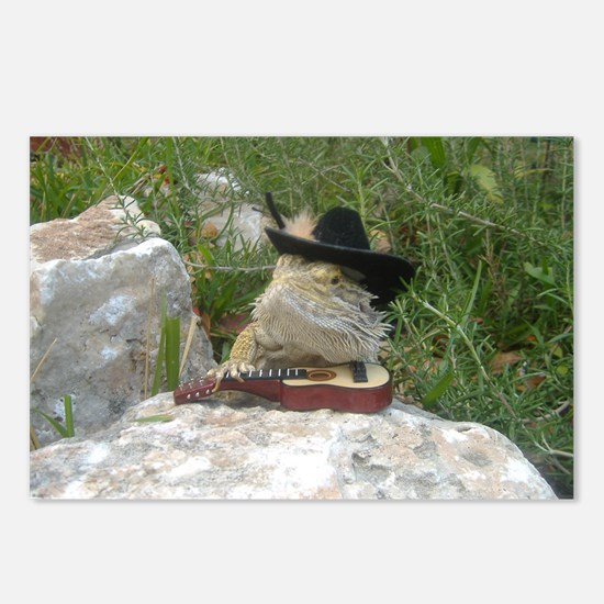 Musician Spiny the Lizard Postcards (Package of 8)