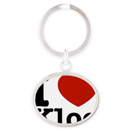 I love Kloe designs Oval Keychain