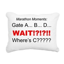 Marathon Moments - Where Rectangular Canvas Pillow