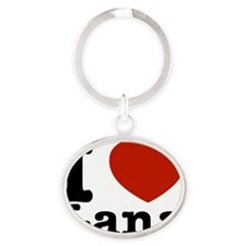 I love Lana designs Oval Keychain