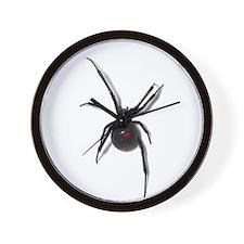 Black Widow No text Wall Clock