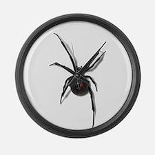 Black Widow No text Large Wall Clock