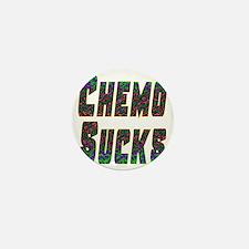 chemo sucks acid colors Mini Button