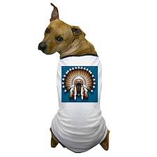 Native War Bonnet 01 - blue back Dog T-Shirt