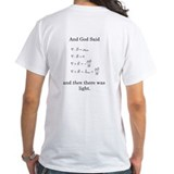 And god said and then there was light Mens White T-shirts